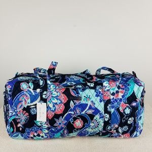 Vera Bradley Large Duffel Bag Lotus Flower Swirl